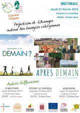 Jeudi 21 Février 2019 - Projection Après Demain - Echanges sur les énergies citoyennes -  Meymac (19)