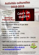 Jeudi 20 Juin 2019 - Atelier Théatre -  Saint-Maurice-les-Brousses (87)