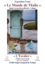 Lundi 19 Aout 2019 - Exposition-vente de collages : Le Monde de Thalie -  Saint-Léonard-de-Noblat (87)