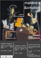Jeudi 21 Février 2019 - Ateliers Matière & Création -  Eymoutiers (87)